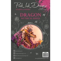 Pink Ink Designs - Clear Acrylic Stamps - A5 - Dragon