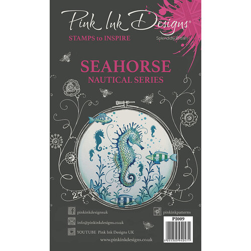Pink Ink Designs - Clear Acrylic Stamps - A5 - Seahorse