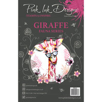 Pink Ink Designs - Clear Acrylic Stamps - A5 - Giraffe