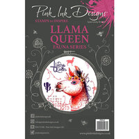 Pink Ink Designs - Clear Acrylic Stamps - A5 - Llama Queen