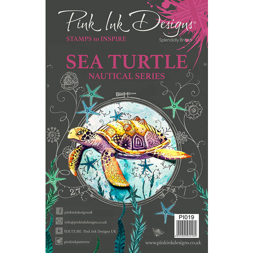 Pink Ink Designs - Clear Acrylic Stamps - A5 - Sea Turtle