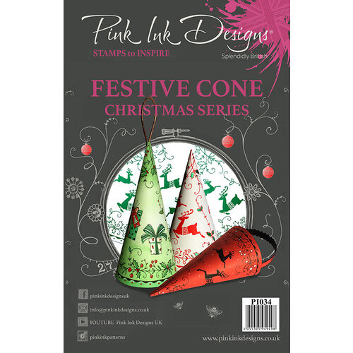 Pink Ink Designs - Christmas - Clear Acrylic Stamps - A5 - Festive Cone