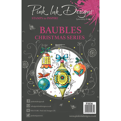 Pink Ink Designs - Christmas - Clear Acrylic Stamps - A5 - Baubles