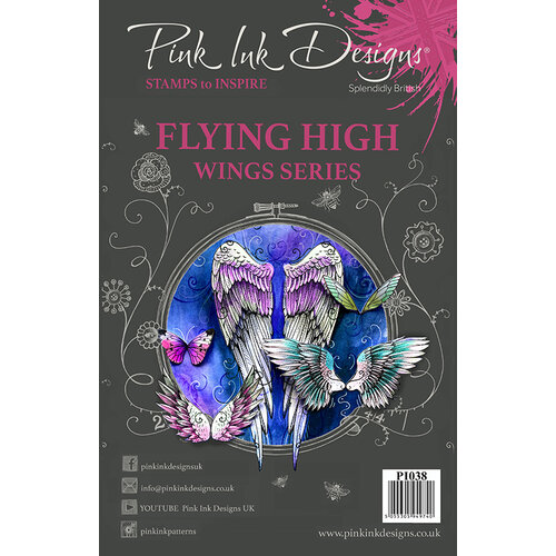 Pink Ink Designs - Clear Acrylic Stamps - A5 - Flying High