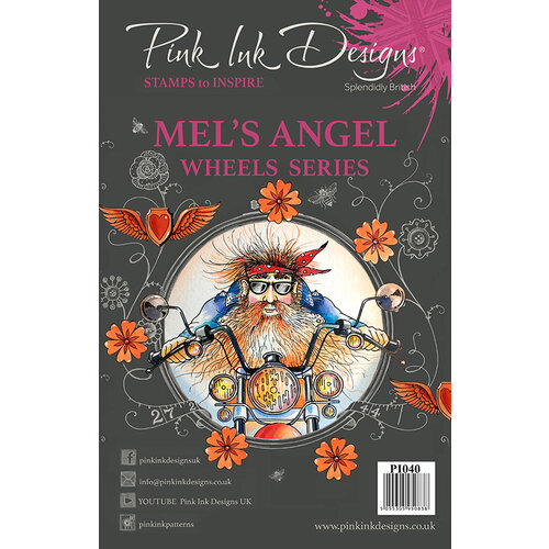 Pink Ink Designs - Clear Acrylic Stamps - A5 - Mel's Angel