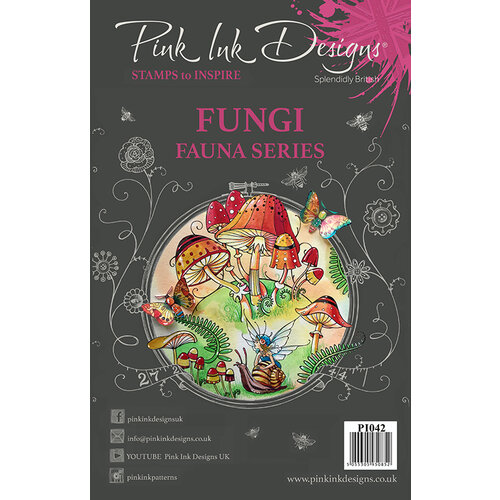 Pink Ink Designs - Clear Acrylic Stamps - A5 - Fungi