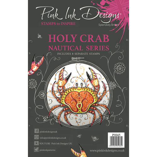 Pink Ink Designs - Clear Acrylic Stamp - Holy Crab