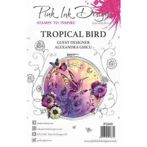 Pink Ink Designs - Clear Acrylic Stamps - Tropical Bird