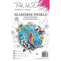 Pink Ink Designs - Clear Acrylic Stamp - Seahorse Swirls