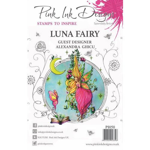 Pink Ink Designs - Clear Acrylic Stamp - Luna Fairy