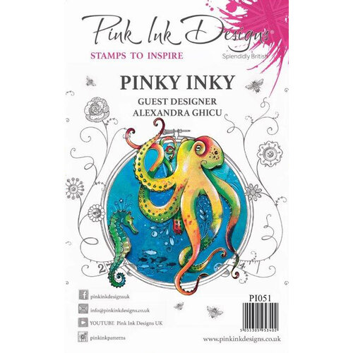 Pink Ink Designs - Clear Acrylic Stamp - Pinky Inky