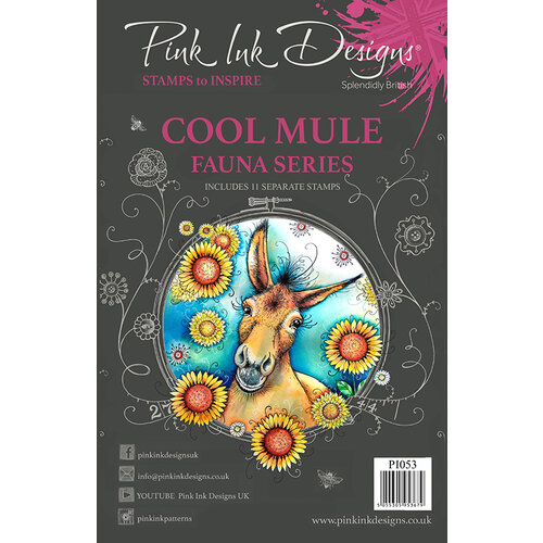 Pink Ink Designs - Clear Acrylic Stamps - Cool Mule