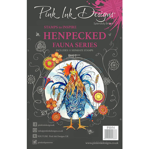 Pink Ink Designs - Clear Acrylic Stamps - Henpecked