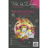 Pink Ink Designs - Clear Photopolymer Stamps - A5 - Buffalo Jill