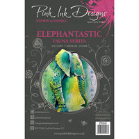 Pink Ink Designs - Clear Acrylic Stamps - A5 - Elephantastic