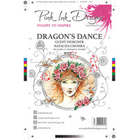 Pink Ink Designs - Clear Acrylic Stamps - A5 - Dragon's Dance