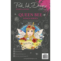 Pink Ink Designs - Clear Photopolymer Stamps - A5 - Queen Bee