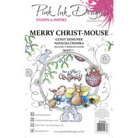 Pink Ink Designs - Christmas - Festive Collection - Clear Acrylic Stamps - Merry Christ Mouse