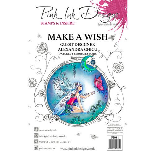 Pink Ink Designs - Christmas - Festive Collection - Clear Acrylic Stamps - Make A Wish