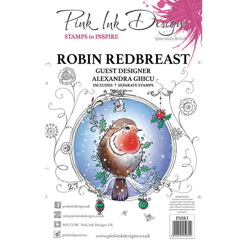 Pink Ink Designs - Christmas - Festive Collection - Clear Acrylic Stamps - Robin Redbreast