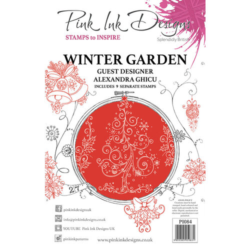 Pink Ink Designs - Christmas - Festive Collection - Clear Acrylic Stamps - Winter Garden