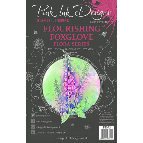 Pink Ink Designs - Clear Photopolymer Stamps - A5 - Flourishing Foxglove