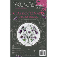 Pink Ink Designs - Clear Photopolymer Stamps - A5 - Classic Clematis
