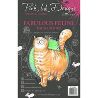 Pink Ink Designs - Clear Photopolymer Stamps - A5 - Fabulous Feline
