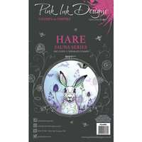 Pink Ink Designs - Clear Acrylic Stamps - A6 - Hare