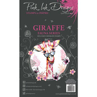 Pink Ink Designs - Clear Acrylic Stamps - A6 - Giraffe