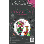 Pink Ink Designs - Clear Acrylic Stamps - A6 - Classy Bird