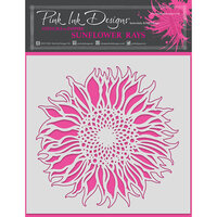 Pink Ink Designs - Stencils - 8 x 8 - Sunflower Rays