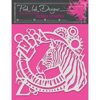 Pink Ink Designs - Stencils - 8 x 8 - Zebra Stripes