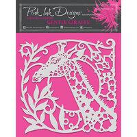 Pink Ink Designs - Stencils - 8 x 8 - Gentle Giraffe