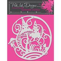 Pink Ink Designs - Stencils - 8 x 8 - Fantasy Fungi