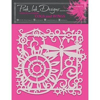 Pink Ink Designs - Stencils - 8 x 8 - Cogs and Wings