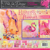 Pink Ink Designs - Elephants and Flamingos Collection - 8 x 8 Paper Pad