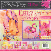 Pink Ink Designs - Elephants and Flamingos Collection - 12 x 12 Paper Pad