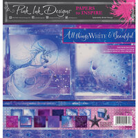Pink Ink Designs - Festive Collection - 8 x 8 Paper Pad - All Things White and Beautiful