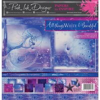 Pink Ink Designs - Festive Collection - 12 x 12 Paper Pad - All Things White and Beautiful