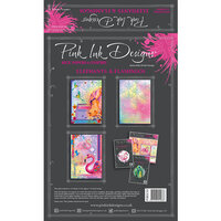 Pink Ink Designs - Elephants and Flamingos Collection - A4 - Rice Paper Pack
