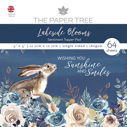 The Paper Tree - Lakeside Blooms Collection - 5 x 5 Sentiment Pad