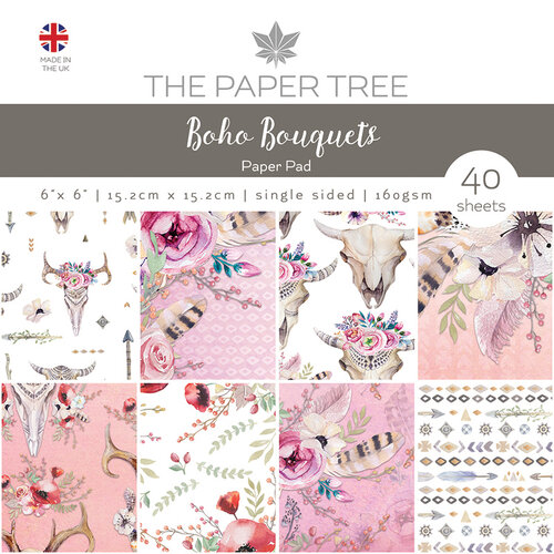 The Paper Tree - Boho Bouquets Collection - 6 x 6 Paper Pad