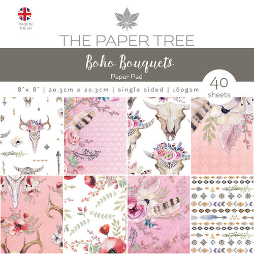The Paper Tree - Boho Bouquets Collection - 8 x 8 Paper Pad