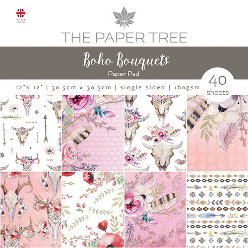 The Paper Tree - Boho Bouquets Collection - 12 x 12 Paper Pad