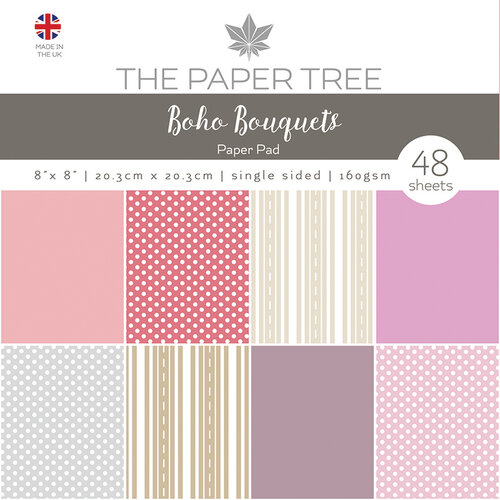 The Paper Tree - Boho Bouquets Collection - 8 x 8 Essentials Paper Pad