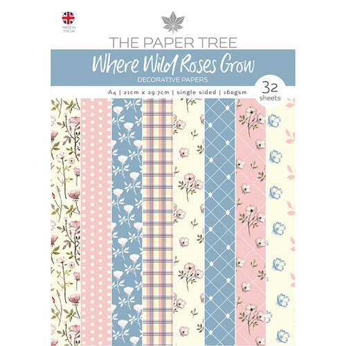 The Paper Tree - Where Wild Roses Grow Collection - A4 Paper Pad