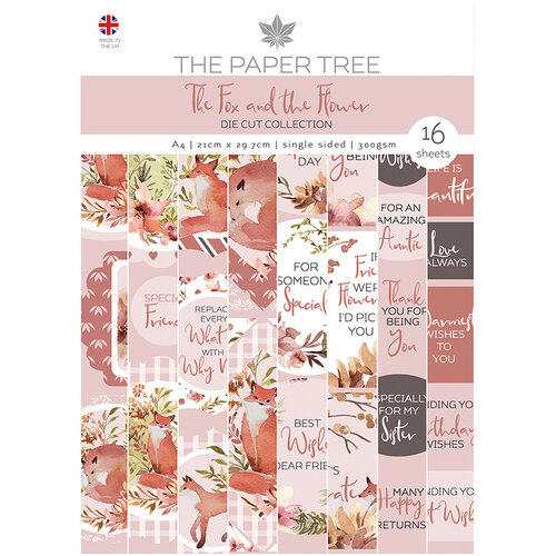 The Paper Tree - The Fox and The Flower Collection - Die Cut Sheets - A4 Paper Pad