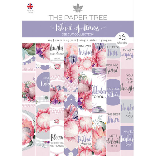 The Paper Tree - A Festival of Flowers Collection - A4 Die Cut Sheets Pack