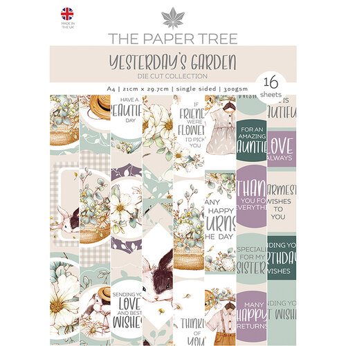 The Paper Tree - Yesterdays Garden Collection - A4 Die Cut sheets